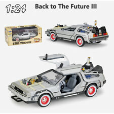 WELLY 1:24 Back to The Future 3 III DMC-12 DeLorean Time Machine Model Car w/Box