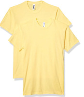 Marky G Apparel Men's Premium Fitted CVC Short Sleeve Crew Tees-2 Pack Banana XS
