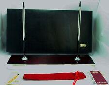SALE! RARE! Retired Cross Burgundy+Pure Silver Desk Set Pen/Pencil USA Excellent