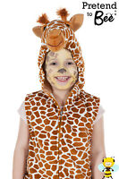 KIDS CHILDS GIRLS BOYS ZOO JUNGLE WILD SAFARI ANIMAL ZIP UP FANCY DRESS COSTUME