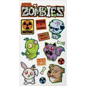 Sticko Animal Zombies Stickers Papercraft Planner Halloween DIY Crafts