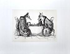 Weber: Die beiden Anwälte [1978]. Signierte Original-Lithografie.