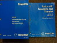 2009 Mazda MAZDA6 Service Repair Shop Manual Volume 2 and Transaxle FACTORY OEM