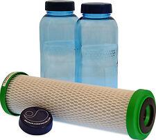 CARBONIT NFP Premium Filtro E 2 x 0,5 litri flacone per la sete in viaggio