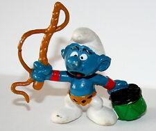 Vintage Smurf Schleich Figure 1979 Peyo Ring Master Lion Tamer PVC NEW NOS