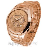 *NEW* MENS EMPORIO ARMANI ROSE GOLD CHRONOGRAPH WATCH - AR0365 - RRP £399.00