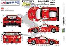 """[FFSMC Productions] Decals 1/24 Ferrari F-430 LMGT2 """"Team RISI"""" (LM 2008)"""