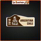 2 Adhesives IN Theme Dakar Argentina Chile Auto Motorcycle Rally Helmet Cross