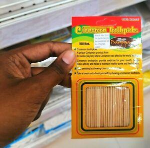 Best Quality Cinnamon Toothpicks 100 pieces 100%Pure Sri Lanka  Cinnamon Smell