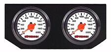 Air Ride Suspension White Single Needle Air Gauges & Double Display Panel 200psi