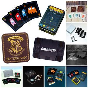 *Auswahl* Spielkarten Poker Geschenkdose Harry Potter Star Wars Batman Pac-Man