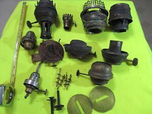 Antique Brass  Flame Spreader Burner Oil Lamp Part Early LOT