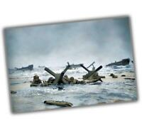 """War Photo Red Sector Operation Overlord, Normandy 1944 WW2 Glossy """"4 x 6"""" inch V"""