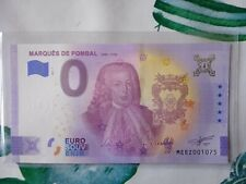 BILLET EURO SOUVENIR PORTUGAL 2021-1 MARQUES DE POMBAL 1699-1782