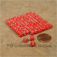 NEW 5mm 100 Red w White Pips Mini Dice Set RPG Game Miniature Tiny 3/16 inch D6