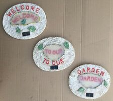 """""""Welcome To Our Garden"""" 3 Piece LED Solar Light Stepping Stone"""