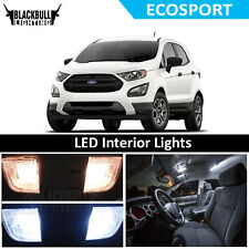 White LED Interior Lights Accessories Package Replacement Kit fits 2018 EcoSport