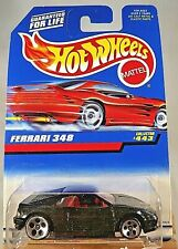 1998 Hot Wheels Collector No #443 FERRARI 348 Black w/Chrome 5 Hole Spoke Wheels