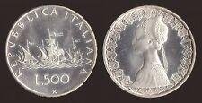 500 LIRE 1970 CARAVELLE ARGENTO ITALIA FDC/UNC FIOR DI CONIO PROOF FONDO LUCIDO