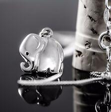 Echt 925 Sterling Silber Kette mit Anhänger Echt Silber Elefant, Panzerkette