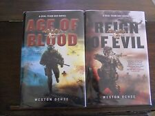 SEAL Team 666: AGE OF BLOOD & REIGN OF EVIL  Weston Ochse, SIGNED 1st prints HC