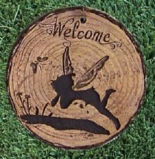 "Garden Path Stepping Stone Wall Plaque Welcome Fairies NEW 6"" B"