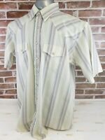 OUTLAW Mens Western Wear Extra Long Tails Pearl Snap Cowboy Shirt 17 17 1/2 XLT
