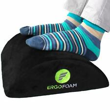 Ergofoam Ergonomic Foot Rest Under Desk Premium Velvet Soft Foam Footrest