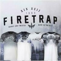 New Firetrap Mens Sublimated Graphic T-Shirt top Sz S to XL crew neck