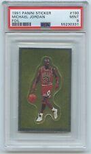 1991 Panini Sticker #190 MICHAEL JORDAN FOIL  PSA 9 MINT   Chicago Bulls / HOF