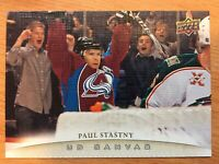 UPPER DECK 2011-2012 SERIES ONE CANVAS PAUL STASTNY HOCKEY CARD C-28
