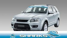 62596 CRONULLA SHARKS COLOUR VISOR BLOCK OUT DECAL NRL CAR STICKER ITAG