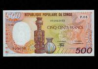 Congo:P-8a,500 Francs,1989 * Statue * UNC *