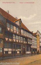 Wolfenbüttel AK 1917 Haus in der Kanzleistraße Fachwerk Niedersachsen 1605067