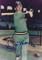 1970's Don Money signed 3 1/2 x 5 Photo Milwaukee Brewers AUTO Autographed