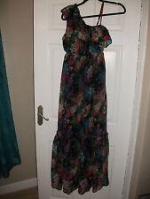 ladies chiffon style maxi dress size 12 NEW