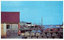 1950's Fishing Docks And Lobster Pots New Harbor Maine PC2230
