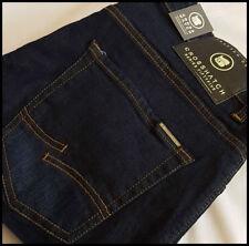 Crosshatch Long Indigo, Dark wash Mid Rise Jeans for Men