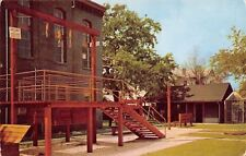 St Augustine Florida~Old Jail~Gallows Head Shackle~Whipping Post~1954 Postcard
