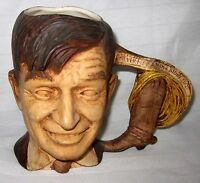 WILL ROGERS CERAMIC HAND PAINTED MUG NEVER MET A MAN I DIDN'T LIKE CUP