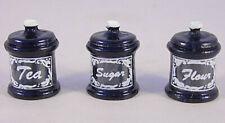 Vintage Dollhouse Miniature 1:12 Scale Cast Iron Canister Set  #310