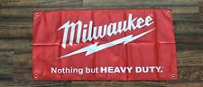 New Milwaukee Banner Flag Hardware Nothing But Heavy Duty Power Tools Equipment
