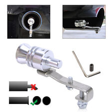Silver Car Turbo Sound Whistle Muffler Exhaust Pipe Blow-off Valve Simulator L