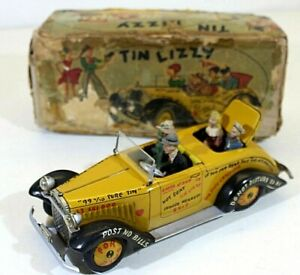 """ARNOLD """"TIN LIZZY"""" HOT ROD TIN WITH MECHANICAL REMOTE,VINTAGE,W.GERMANY(US ZONE)"""
