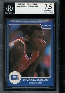1985 Star Lite All-Stars #4A Variation Michael Jordan BGS 7.5 from Bag Rookie Yr