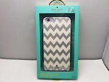 Kate Spade New York iPhone 6 Plus 6s Plus Hard Case Chevron Silver Navy Glitter