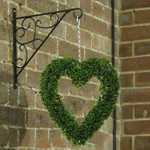 Boxwood Heart Shaped Topiary Door Hanging Garden Grass Green Party Display Decor