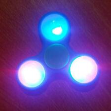 LED Light Up  Hand Spinner Tri Fidget Finger Spinner EDC Spin Stress Focus Toy