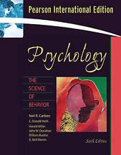 Psychology 6e Carlson Heth Miller Donahoe Buskist Neil Pearson Ed… 9780205493241