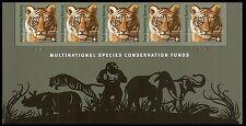 US B4 Save Vanishing Species Amur Tiger Cub First Class footer strip 5 MNH 2011